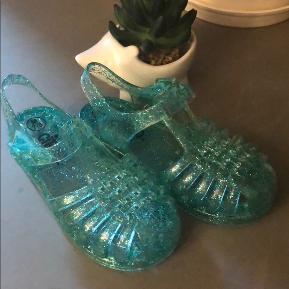7430f62a7733 Circo Other - Mint green glitter jelly shoes. Circo. Worn once!